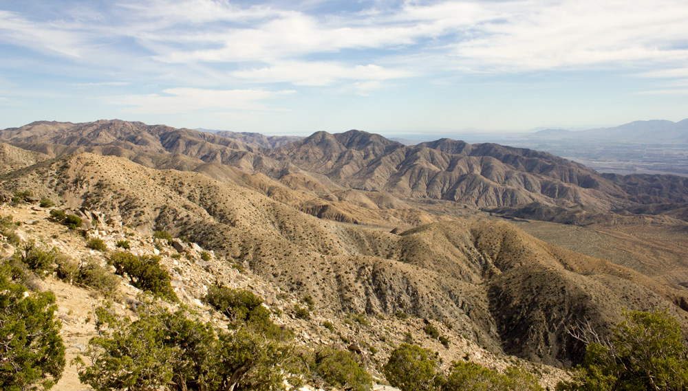 AWESOME view of Coachella Valley all the way to the Salton Sea and Mexico!