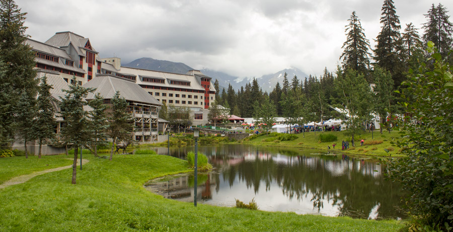 Alyeska Ski Resort, home of the Blueberry Festival.